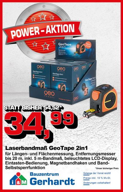 Laserbandmass GeoTape 2in1 Angebot