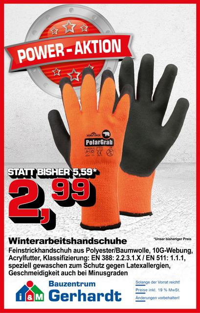 Winterarbeitshandschuh, Winterschutz, Kälteschutzhandschuh,