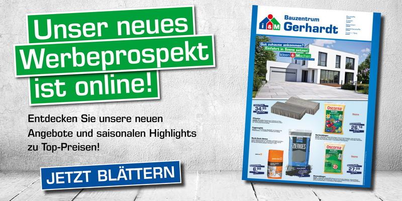 Gerhardt Bauzentrum Angebote Angebotsprospekt