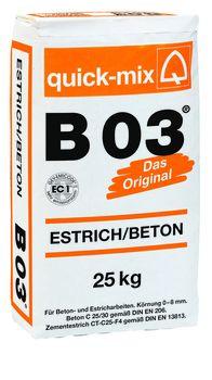 Estrich/Beton B 03 25kg