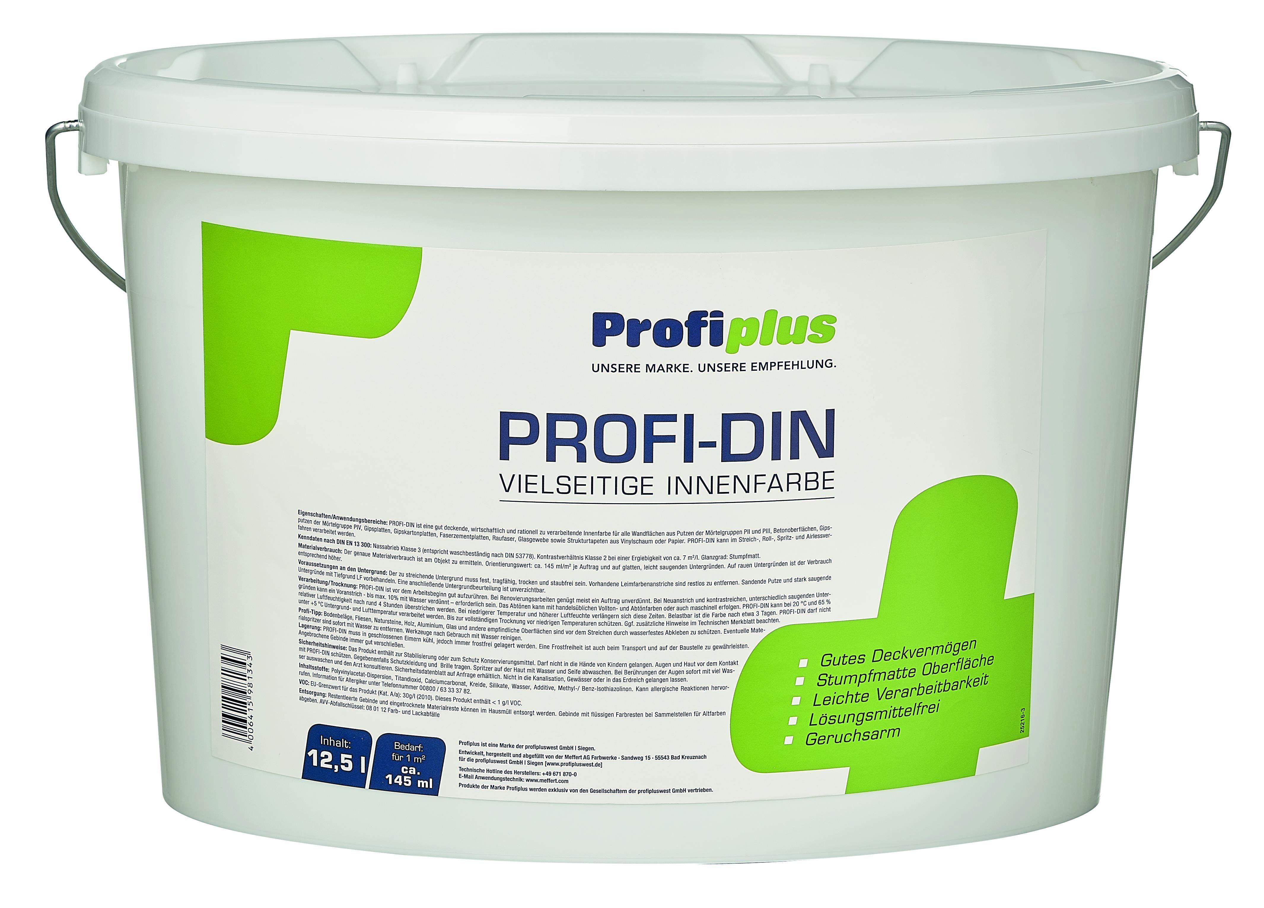 Profiplus Innenraumfarbe DIN weiß 12,5l