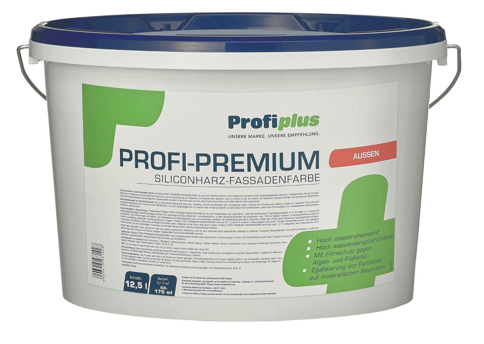 Profiplus Fassadenfarbe CL.weiß 12,5l